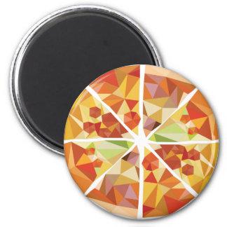 Geometric pizza magnet