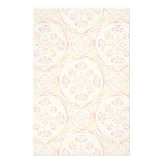 Geometric pizza pattern stationery