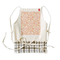 Geometric pizza pattern zazzle HEART apron