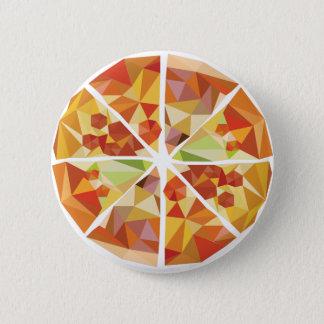 Geometric pizza pinback button