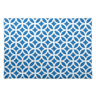 Geometric Place Mats in Dazzling Blue