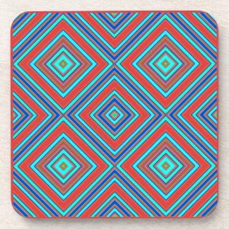 Geometric  plastic coasters