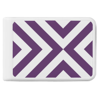 Geometric Purple and White Chevrons Power Bank
