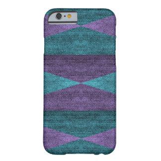Geometric Purple & Blue Denim Design, iPhone 6/6s Barely There iPhone 6 Case