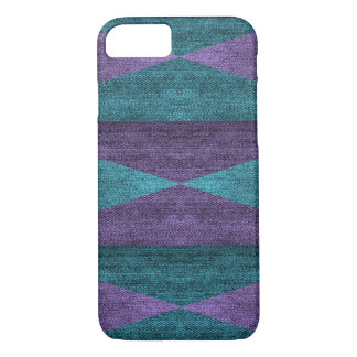 Geometric Purple & Blue Denim Design, iPhone 7 iPhone 7 Case