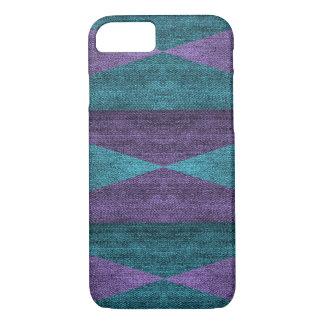 Geometric Purple & Blue Denim Design, iPhone 7 iPhone 7 Case