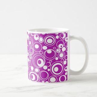 Geometric Purple Circles Coffee Mug