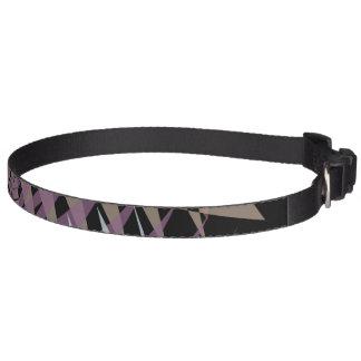 Geometric Purple Dog Collar