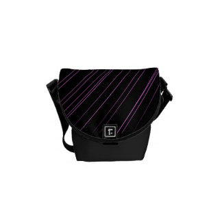 Geometric Purple Lines Black Accessory Bag
