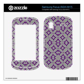 Geometric Purple Pattern Samsung Focus Decal