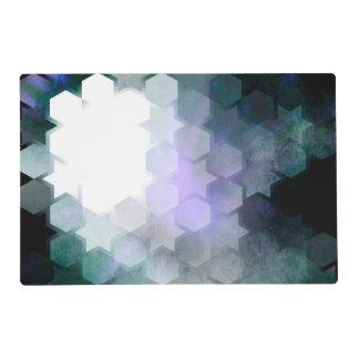 Geometric Purple Stars & Hexagons Placemat