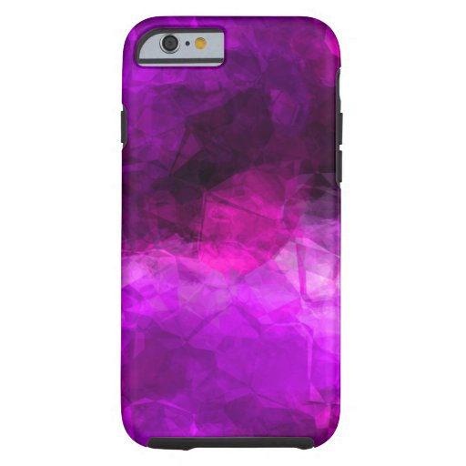 Geometric Purples Abstract Pattern Tough iPhone 6 Case