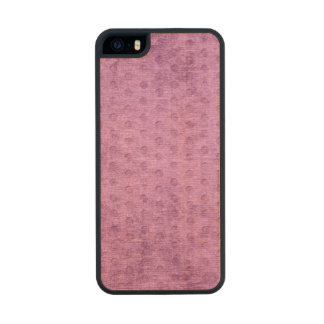 Geometric Radiant Orchid Faux Chenille Texture Wood Phone Case For iPhone SE/5/5s