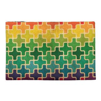 Geometric Rainbow Accessory Bag