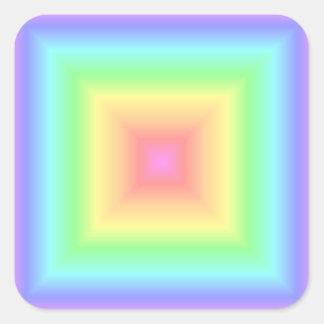 Geometric Rainbow Pastel Square Square Sticker