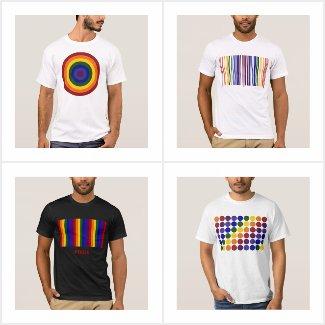 Geometric Rainbow Pattern LGBT Pride T-shirts