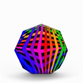 Geometric Rainbow Spectrum Designer Modern 1 Acrylic Award