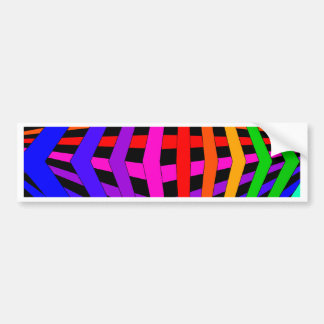Geometric Rainbow Spectrum Designer Modern 1 Bumper Sticker