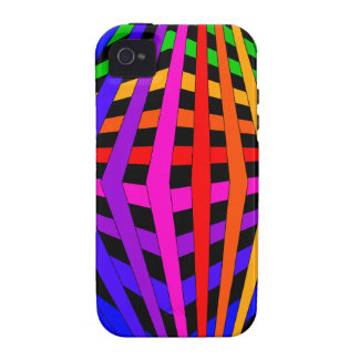 Geometric Rainbow Spectrum Designer Modern 1 iPhone 4 Cover