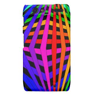 Geometric Rainbow Spectrum Designer Modern 1 Droid RAZR Cover