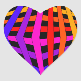 Geometric Rainbow Spectrum Designer Modern 1 Heart Sticker