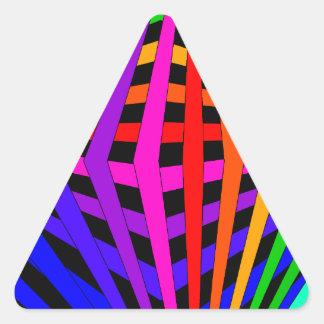 Geometric Rainbow Spectrum Designer Modern 1 Triangle Sticker