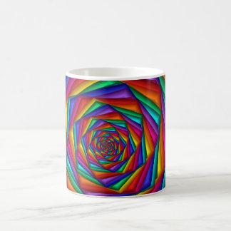 Geometric Rainbow Spiral Mug