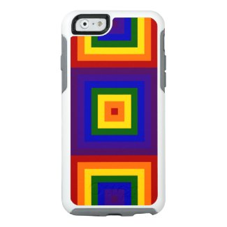 Geometric Rainbow Squares OtterBox iPhone 6/6s Case