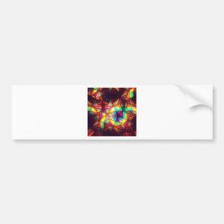 Geometric Rainbow Stained Glass Art Photograph Car Bumper Sticker