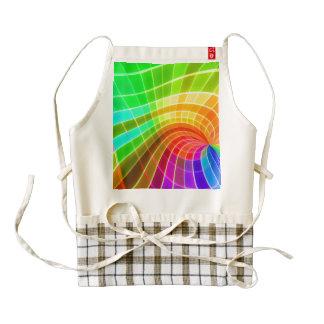 Geometric Rainbow Swirl Zazzle HEART Apron