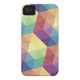 Geometric Rainbow Triangles iPhone4/4S case