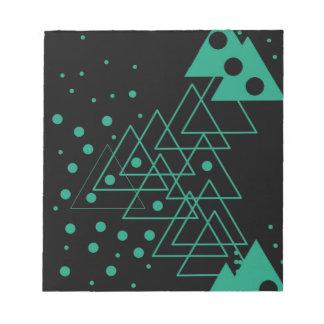 geometric random design notepad