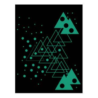 geometric random design postcard