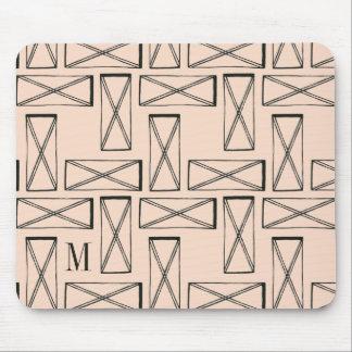 Geometric Rectangle X Design Mouse Pad