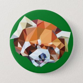 Geometric Red Panda Pinback Button