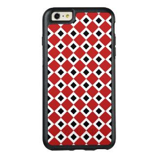 Geometric Red, White, Black Diamond Pattern OtterBox iPhone 6/6s Plus Case