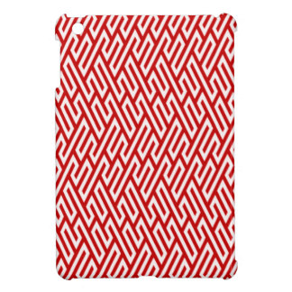 Geometric red, white. Housing of reason iPad Mini Covers