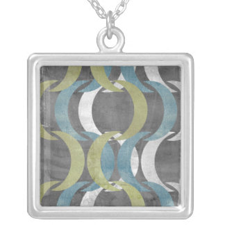 Geometric Repeat I Silver Plated Necklace