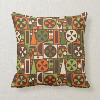 Geometric Retro 50s Mid-Century Modern Abstract Throw Pillow