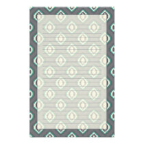 Geometric retro ikat tribal pattern stationery