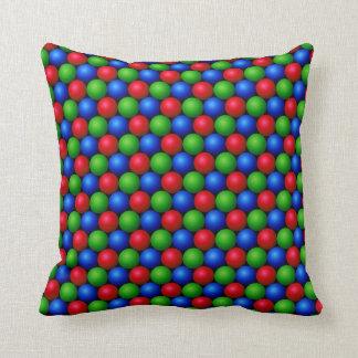 Geometric RGB Sphere Pattern Pillow