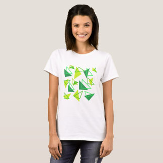 Geometric - right angled triangles in green. T-Shirt