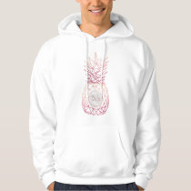 Geometric rose gold pineapples marble pattern hoodie