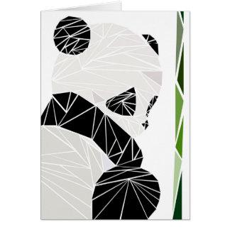 Geometric sad panda card
