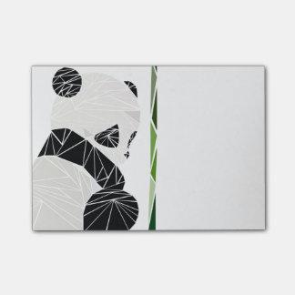 Geometric sad panda post-it notes
