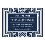 Geometric Save the Date Cards Custom Invitation