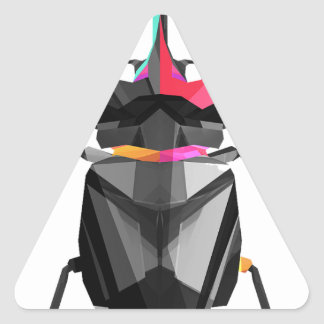 Geometric Scarab Triangle Sticker