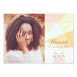 Geometric Senior Photo Graduation Card