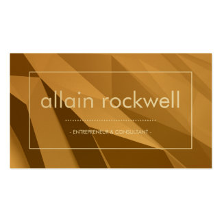 Geometric Shades of Gold Business Card
