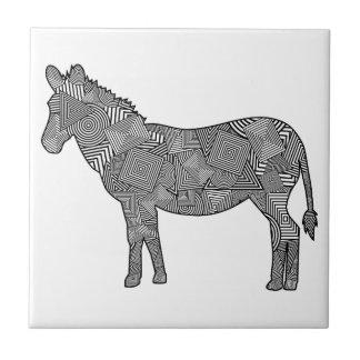 Geometric Shape Collage Zebra Tile